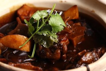 Braised Oxtail With Mushrooms